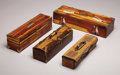 American Indian Art, FOUR SOUTHERN PLAINS PEYOTE BOXES. c.1950 . ... (Total: 4 Items)