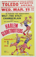 Basketball Collectibles:Others, 1958 Harlem Globetrotters Featuring Wilt Chamberlain Broadside.Denied the option of entering the NBA prior to completing h...