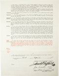 Autographs:Others, 1935 Joe Sewell Signed Uniform Player's Contract. In three years and 1,511 at bats as a New York Yankee, the Hall of Fame t...