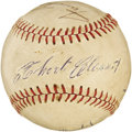 Autographs:Baseballs, 1960's Roberto Clemente Signed Baseball. The blue ink sweet spot signature from the Pittsburgh Pirates Hall of Famer would ...