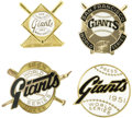 "Baseball Collectibles:Others, 1951-89 World Series Press Pins (New York/San Francisco Giants) Lotof 4. From Willie Mays' rookie season to the famed ""Ear..."