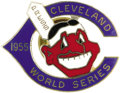 Baseball Collectibles:Others, 1955 World Series Phantom Press Pin (Cleveland Indians). Leading the American League with fewer than ten games to play, the...
