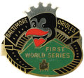 Baseball Collectibles:Others, 1960 World Series Phantom Press Pin (Baltimore Orioles). Leading the American League pennant race on September 14th, the bi...