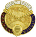 Baseball Collectibles:Others, 1938 World Series Press Pin (New York Yankees). To be conservative,we'll call this pin NRMT-MT, though the temptation is a...