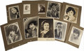 Movie/TV Memorabilia:Photos, Harold Lloyd and Others Vintage Photos. Set of 16 vintage b&wpublicity photos of Harold Lloyd, Gloria Swanson, Richard Dix,...(Total: 1 Item)