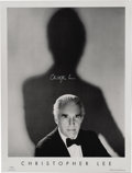 "Movie/TV Memorabilia:Autographs and Signed Items, Christopher Lee Signed Poster. This 19"" x 25"" photo portrait of theactor, number 99 of a limited edition of 500, is signed ... (Total:1 Item)"