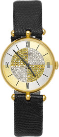 Estate Jewelry:Watches, Van Cleef & Arpels Lady's Diamond, Colored Diamond, GoldWristwatch. ...