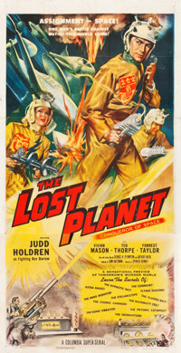 "The Lost Planet (Columbia, 1953). Three Sheet (41"" X 81"")"