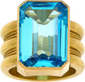 Estate Jewelry:Rings, Blue Topaz, Gold Ring, Reinstein/Ross. ...