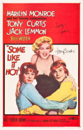 "Movie Posters:Comedy, Some Like It Hot (United Artists, 1959). Autographed One Sheet(26.75"" X 41.75"").. ..."