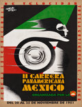 "Movie Posters:Miscellaneous, Il Carrera Panamericana Mexico Travel Poster (1951). Poster (25.25X 33.5"").. ..."