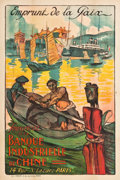 "Movie Posters:War, French Travel Poster (1920). Poster (30.5"" X 45.5""). ""Emprunt de laPaix. Souscrivez à la Banque Industrielle de Chine"" (Pea..."