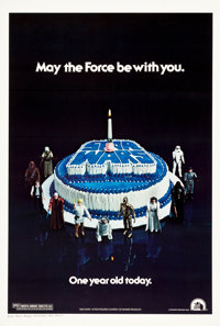 "Star Wars (20th Century Fox, 1978). One Sheet (27.25"" X 40.5"") Birthday Cake Style"