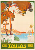 """Movie Posters:Miscellaneous, Toulon, France Travel Poster (1922). Poster (29.5"""" X 42"""").. ..."""