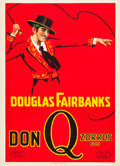 "Movie Posters:Swashbuckler, Don Q, Son of Zorro (United Artists, 1925). Swedish One Sheet(28.25"" X 39.25"").. ..."