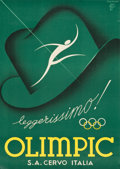 """Movie Posters:Sports, Olympic Advertising Poster (Cervo, Italy 1937). Poster (27.25"""" X38.5""""). Sports.. ..."""