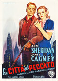 "Movie Posters:Drama, City for Conquest (Warner Brothers, 1949). First Post-War ReleaseItalian 2 - Foglio (39"" X 55"").. ..."