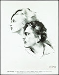 """Movie Posters:Comedy, 20th Century (Columbia, 1934). Photo and Art Drawing (8"""" X 10"""")..... (Total: 2 Items)"""