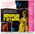 "Movie Posters:Hitchcock, Psycho (Paramount, 1960). Six Sheet (78.5"" X 81"").. ..."