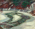 Fine Art - Painting, American:Modern  (1900 1949)  , WALTER KING STONE (American, 1875-1949). Spring Pools. Oilon canvas. 25 x 30 inches (63.5 x 76.2 cm). Signed lower righ...