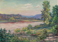 Texas:Early Texas Art - Regionalists, BIRD JONES (American, 1865-1944). River above Wrecked Dam. Oil on board. 11-3/4 x 16-1/2 inches (29.8 x 41.9 cm). Signed...