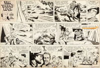 Lyman Young and Tom Massey Tim Tyler's Luck Sunday Comic Strip Original Art dated 7-14-57 (King Features Syndicate