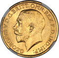 Australia, Australia: George V gold Sovereign 1924-S UNC Details (ExcessiveSurface Hairlines) NGC,...