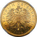Austria, Austria: Republic gold Proof 100 Kronen 1923 PR61 NGC,...