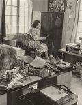 Photographs:Gelatin Silver, JEAN HOWARD (American, 1910-2000). Catherine d'Erlanger painting, circa 1940. Gelatin silver. 9-1/4 x 7-3/8 inches (23.5...