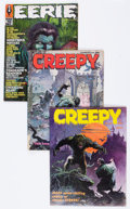 Magazines:Horror, Creepy and Eerie Group (Warren, 1964-69) Condition: Average VG+.... (Total: 12 Comic Books)