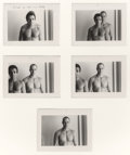 Photographs:Gelatin Silver, Duane Michals (American, b. 1932). Portrait of Roger and Shelly (series of five photographs), circa 1979. Gelatin silver...
