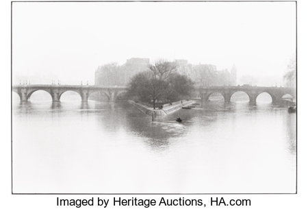 HENRI CARTIER-BRESSON (French, 1908-2004) Île de la Cité, 1952 Gelatin silver, printed later 11-3/4 x 17-1/2 inches (...