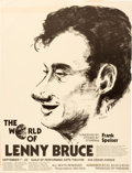 Memorabilia:Poster, The World of Lenny Bruce Stage Show Poster (c. 1970s)....