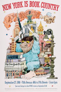 """Books:Prints & Leaves, Maurice Sendak. SIGNED. Poster Commemorating the 20th Anniversaryof """"New York is Book Country"""" Event, September, 27th, 1998. ..."""