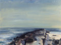 Fine Art - Painting, American:Contemporary   (1950 to present)  , EDWIN WALTER DICKINSON (American, 1891-1978). Jetty, PointLookout, October 16,1953. Oil on canvas. 20-1/8 x 23-1/8inch...
