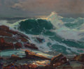 Paintings, FRANZ A. BISCHOFF (Austrian/American, 1864-1929). The Wave. Oil on canvas. 20 x 24 inches (50.8 x 61.0 cm). Signed lower...