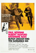 "Movie Posters:Western, Butch Cassidy and the Sundance Kid (20th Century Fox, 1969). OneSheet (27.25"" X 41"") Style B.. ..."