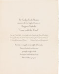 "Movie/TV Memorabilia:Documents, An Invitation to the Los Angeles Premiere of ""Gone With TheWind.""..."