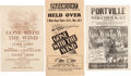 """Movie/TV Memorabilia:Documents, A Group of Flyers Related to """"Gone With The Wind,"""" 1939-1940...."""