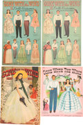 "Movie/TV Memorabilia:Memorabilia, A Group of Vintage Paper Dolls and Coloring Books Related to ""GoneWith The Wind.""..."