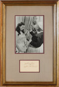 Movie/TV Memorabilia:Autographs and Signed Items, A Hattie McDaniel Signature, Circa 1930s....