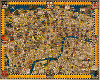 "The Wonderground Map of London Town (The Westminster Press, 1924). Poster (29.5"" X 36.75"")"