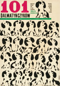 "Movie Posters:Animation, 101 Dalmatians (CWF, 1967). Polish One Sheet (22.5"" X 32.5"").. ..."