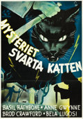 "Movie Posters:Mystery, The Black Cat (Universal, 1941). Swedish One Sheet (27.5"" X39.25"").. ..."
