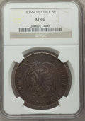 Chile, Chile: Republic 8 Reales 1839 So-IJ XF40 NGC,...