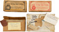 "Movie/TV Memorabilia:Memorabilia, A Group of Bricks Related to ""Gone With The Wind.""..."