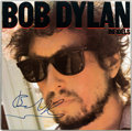 Music Memorabilia:Autographs and Signed Items, Bob Dylan Autographed Infidels LP Cover (c. 1980s)....