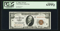 Fr. 1860-E $10 1929 Federal Reserve Bank Note. PCGS Choice New 63PPQ