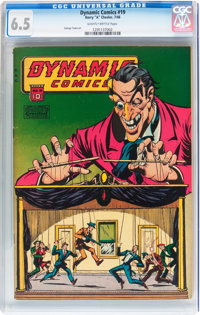 Dynamic Comics #19 (Chesler, 1946) CGC FN+ 6.5 Slightly brittle pages
