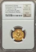 Ancients:Byzantine, Ancients: Constantine IV (AD 668-685). AV solidus (4.13 gm)....